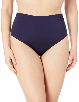 Anne Cole Women's Plus Size High Waist Fold Over Double Lined Bikini Swim Bottom