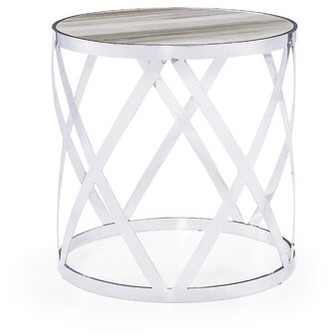 Blink Home Tribeca End Table Table Top Color: White