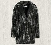 Bernardo Zip Front Notch Collar Tweed Jacket