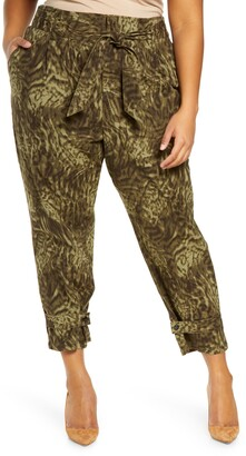 Good American Paperbag Waist Ankle Pants