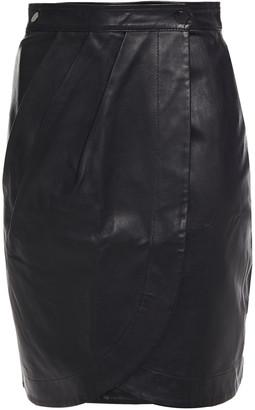 BA&SH Leana Leather Mini Wrap Skirt