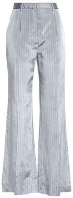 Sonia Rykiel Pinstriped Satin-twill Wide-leg Pants