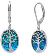 Sterling Opal Tree Earrings