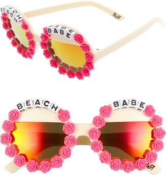 Rad + Refined Beach Babe Round Sunglasses