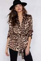 Nasty Gal If Looks Could Kill Leopard Blazer