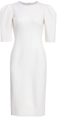 Michael Kors Puff-Sleeve Sheath Dress