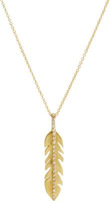 Ileana Makri Women's Baby Eagle Feather Pendant Necklace-Colorless