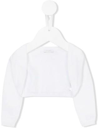 Il Gufo Cropped Long-Sleeve Cardigan