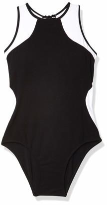 Jets Women's Classique Mastectomy High Neck One Piece Swimsuit