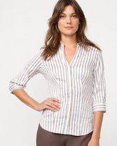 Le Château Stripe Poplin Button-front Shirt
