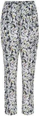 See by Chloe Floral-printed silk-blend trousers