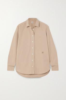 Totême Capri Cotton-poplin Shirt - Green