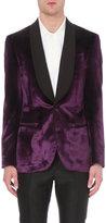 Bally Regular-fit Velvet And Silk Blend Evening Jacket