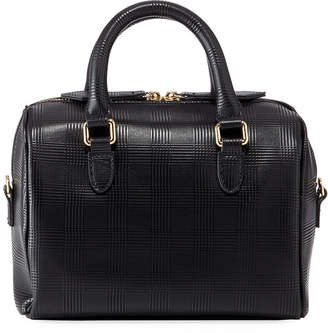 Neiman Marcus Aster Textured Leather Satchel Bag