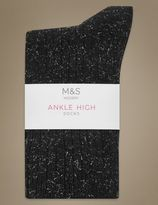 Marks and Spencer Sparkle Ankle Socks with Silver Technology