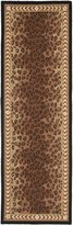 Safavieh Chelsea Collection HK15A Hand-Hooked and Brown Wool Runner, 2 feet 6 inches by 16 feet