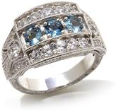 Generations 1912 - 1.69ctw Santa Maria Aquamarine and White Zircon Sterling Silver Ring