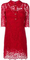 Dolce & Gabbana floral lace button-up dress - women - Cotton/Nylon/Rayon - 44