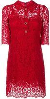 Dolce & Gabbana floral lace button-up dress - women - Cotton/Nylon/Rayon - 46