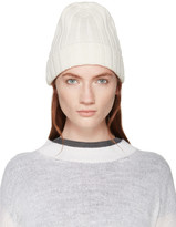 MM6 MAISON MARGIELA White Ribbed Beanie