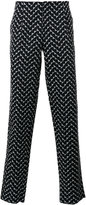 Emporio Armani zigzag print trousers - men - Cotton - 46