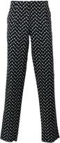 Emporio Armani zigzag print trousers
