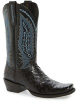 Ariat Men's Super Stakes Ostrich Leather Cowboy Boot