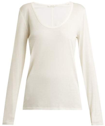 The Row Baxerton Long Sleeved T Shirt - Womens - White