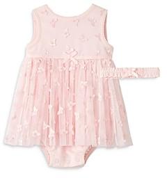 Little Me Girls' Butterfly Popover Dress & Headband Set - Baby