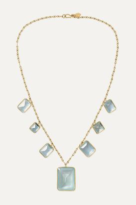Pippa Small 18-karat Gold Aquamarine Necklace - one size