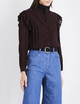 Masscob Ruffled gauze blouse