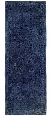 """French Connection Jaylen Jacquard Navy Area Rug Rug Size: Runner 1'8"""" x 5'"""