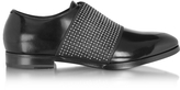 Jimmy Choo Peter Black Leather Loafer w/Elastic Studded Band