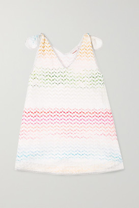 Missoni Kids - Metallic-trimmed Crochet-knit Dress - Pink