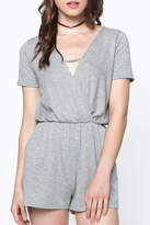 Everly Heather Grey Romper