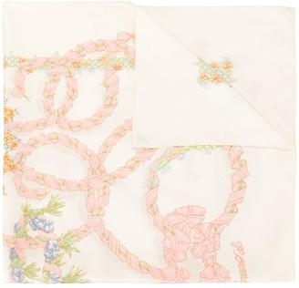 Hermes Pre-Owned Floral Print Scarf