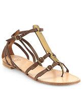 Stuart Weitzman Entity Leather & Metallic Leather Sandals