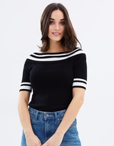 Wallis Monochrome Bardot Top