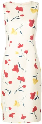 Oscar de la Renta Watercolour Poppies Dress
