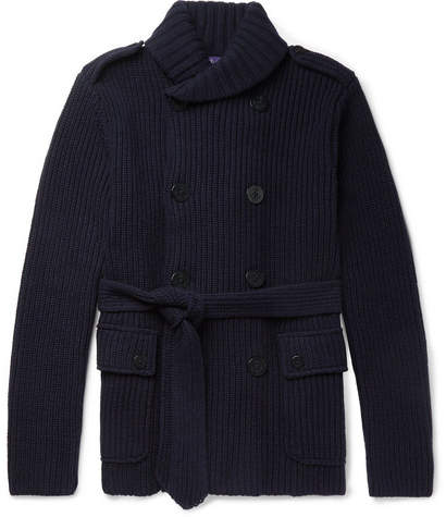 Ralph Lauren Purple Label Shawl-Collar Wool And Cashmere-Blend Cardigan