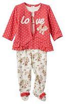 Baby Starters Baby Girl Sock Monkey 3-pc. Jacket, Bodysuit & Footed Pants Set