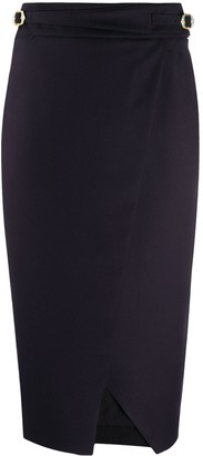 L'Autre Chose Buckle-Detail Pencil Skirt