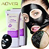 Aliver Blackhead Remover Mask Deep Cleansing Purifying Peel off Blackhead Absorbing Pores Stubborn Dirt for Women