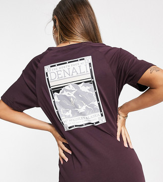 The North Face Faces t-shirt in burgundy Exclusive at ASOS