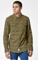 Nixon Lewis Plaid Flannel Long Sleeve Button Up Shirt