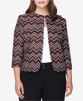 Tahari ASL Plus Size Chevron-Patterned Jacket