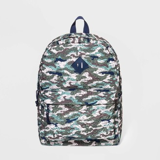 Cat & Jack Boys' Quilted Camo Backpack - Cat & JackTM Green