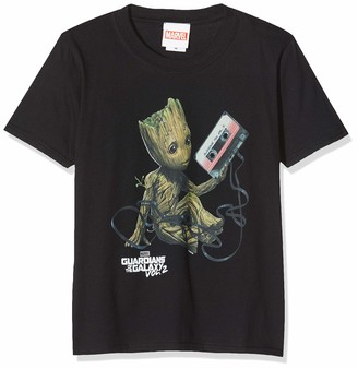 Marvel Girl's Guardians of The Galaxy Vol2 Groot Tape T-Shirt