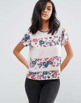 Vero Moda Floral Panel T-Shirt