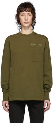Helmut Lang Khaki Standard Monogram Long Sleeve T-Shirt
